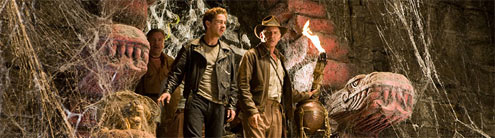 IMAGE: Ray Winstone, Shia LaBeouf, and Harrison Ford in Indy 4 publicity pic
