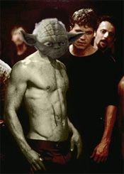CRUDE PHOTOSHOPPERY: Of Fight Club is the first rule -- about Fight Club you talk not.