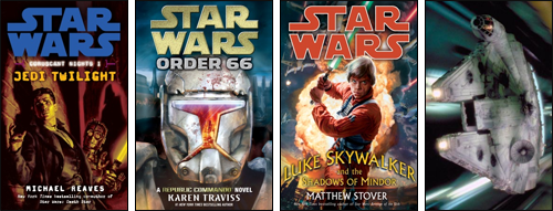 IMAGE: 2008 novels, and no, that is not the real MF cover, just a ROTJ still.