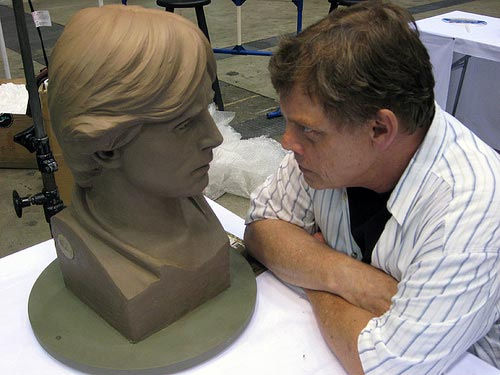 Mark Hamill (and Luke sculpture) at Celebration Japan