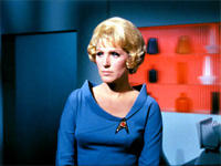 Majel Barret Roddenberry as Christine Chapel in TOS