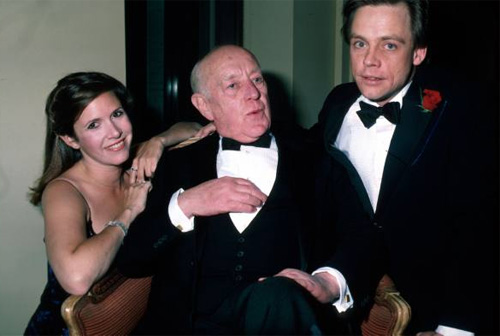 LIFE: Carrie Fisher, Alec Guinness and Mark Hamill @ ANH 10th anniversary party