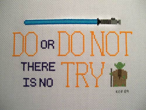 Yoda cross-stitch by krupp @ flickr