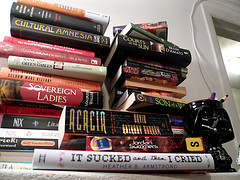 Dunc's book pile as of 05/02/09
