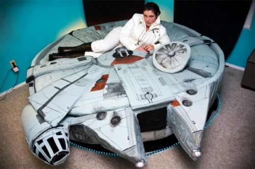 Kayla Kromer's  Millennium Falcon Bed / Photos by Heather Leah Kennedy/ Used with permisson