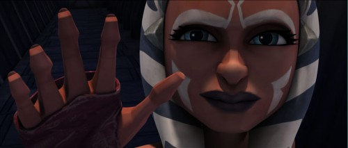 Ahsoka does the wave