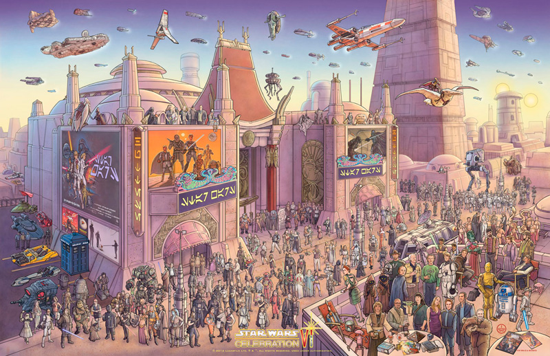 A Fan's Hope, Naam's Huttese Theater, Tatooine by Jeff Carlisle