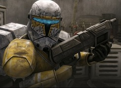 TCW season five Gregor in his Republic Commando gear has seen the Silence