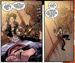Star Wars 3 by Brian Wood - han solo and chewbacca