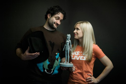 Dave Filoni and Ashley Eckstein (Joel Aron photo)