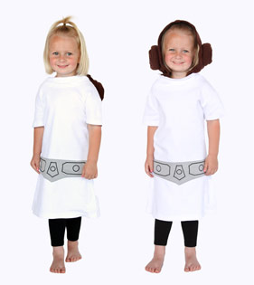 Her Universe Princess Leia costume hoodie for girls