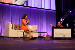 Kathleen Kennedy and Warwick Davis (StarWars.com)