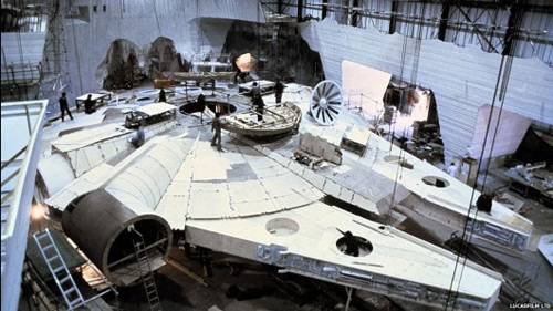 The Millennium Falcon under construction (for ESB)