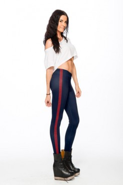 Gold Bubble Bloodstripe leggings (red)