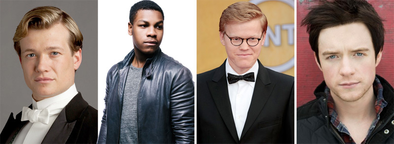 Four Episode VII contenders, per Variety: Ed Speleers, John Boyega, Jesse Plemons, and Matthew James Thomas