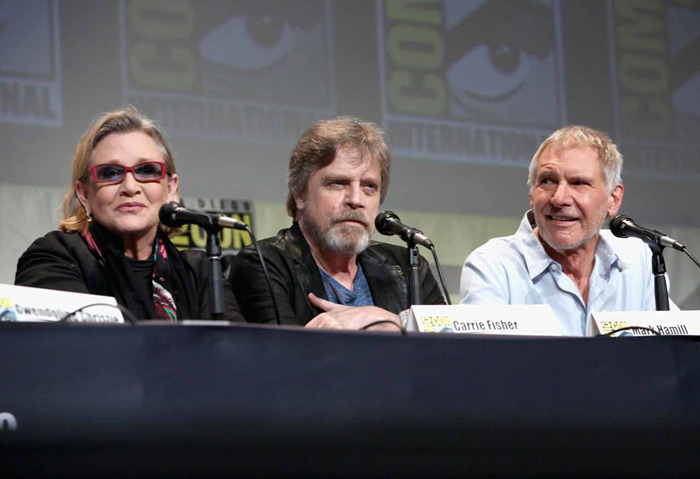 TFA @ SDCC: Carrie Fisher, Mark Hamill, Harrison Ford